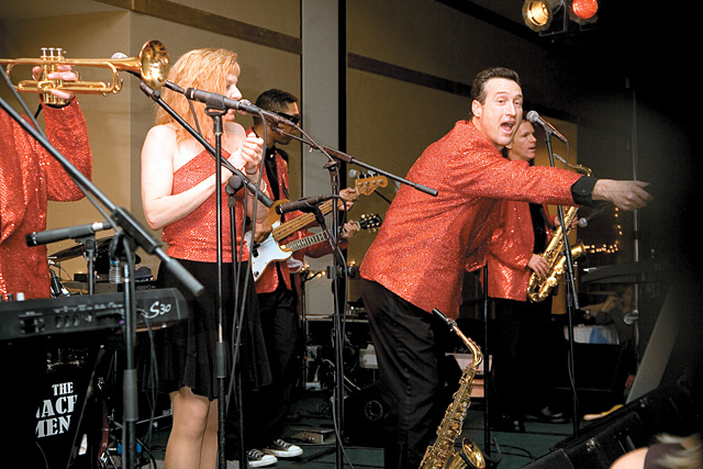 The Nacho Men perform at Steamboat Ski & Resort Corp.'s 25th annual Snowball fundraising event at the Steamboat Grand Resort Hotel.