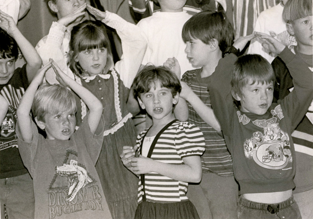 Soda Creek first-graders perform during the spring concert April 27, 1995.