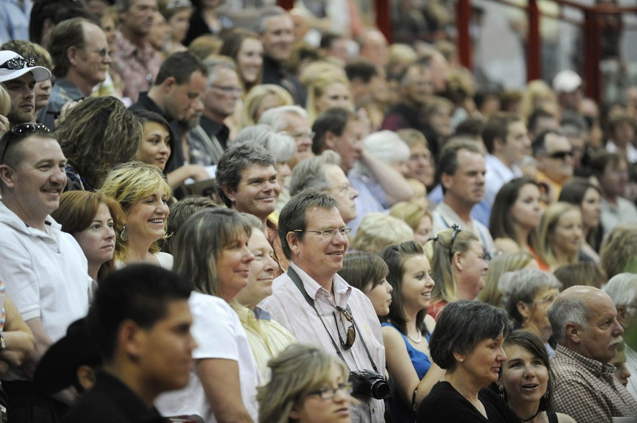 Friends and family attend Saturday's Steamboat Springs High School graduation.