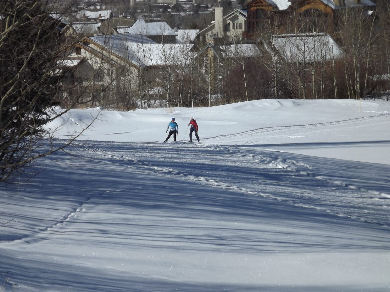 Steamboat Stampede racers climb a hill. Submitted by: Nancy Blank