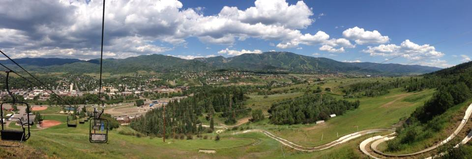 Panoramic pic of Steamboat from the Alpine Slide lift Friday at Howelsen Hill. Submitted by: Tony Rogers