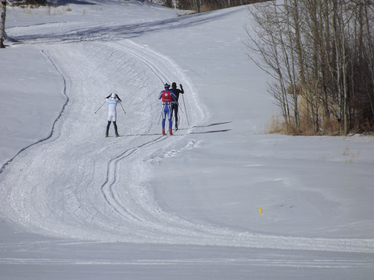 Steamboat Stampede racers work on the climb. Submitted by: Nancy Blank