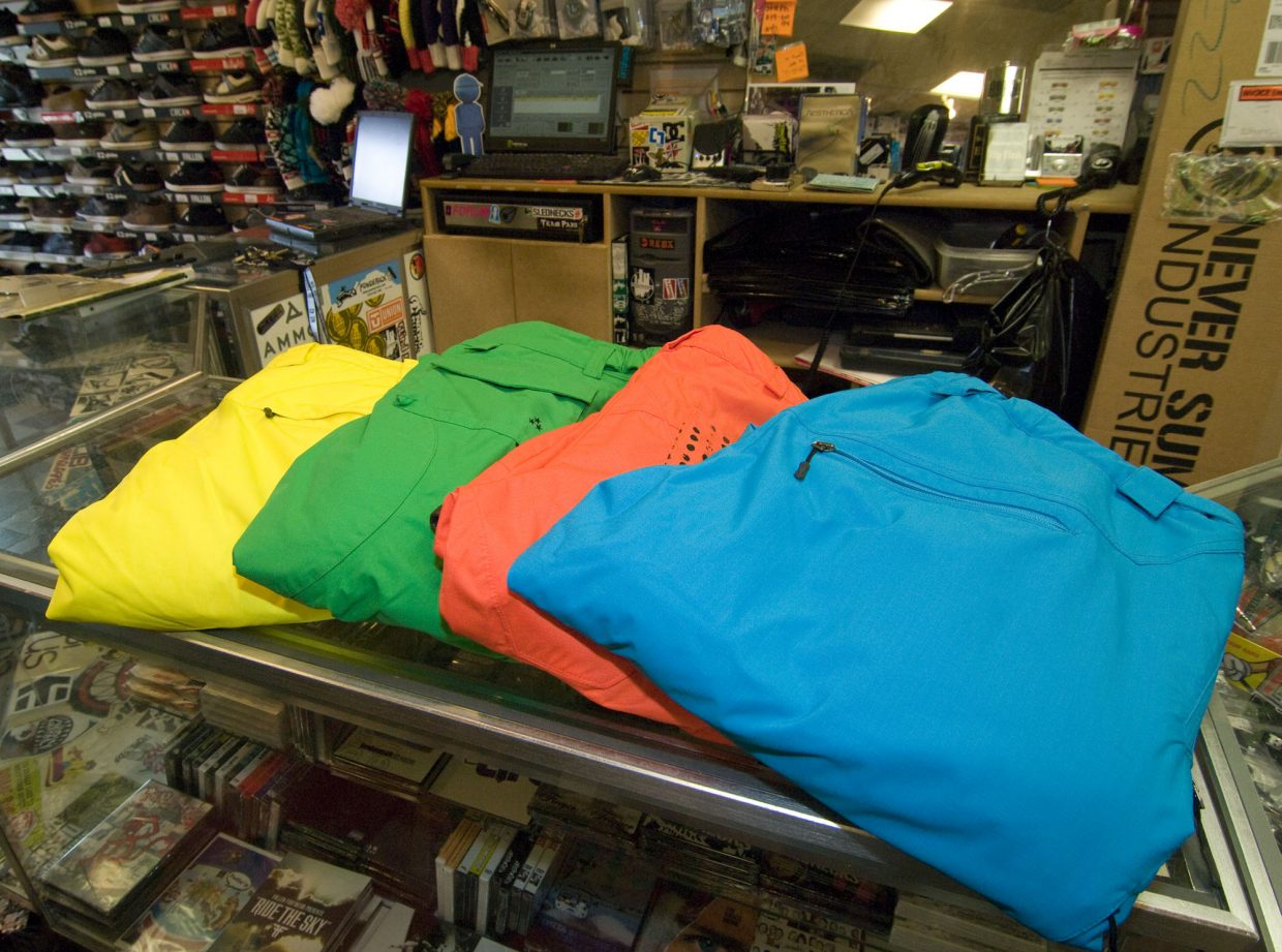 Solid, neon colors for pants are a noticeable trend this season.