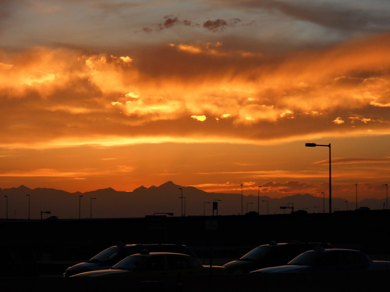 Sunset at DIA. Submitted by: Jeff Hall