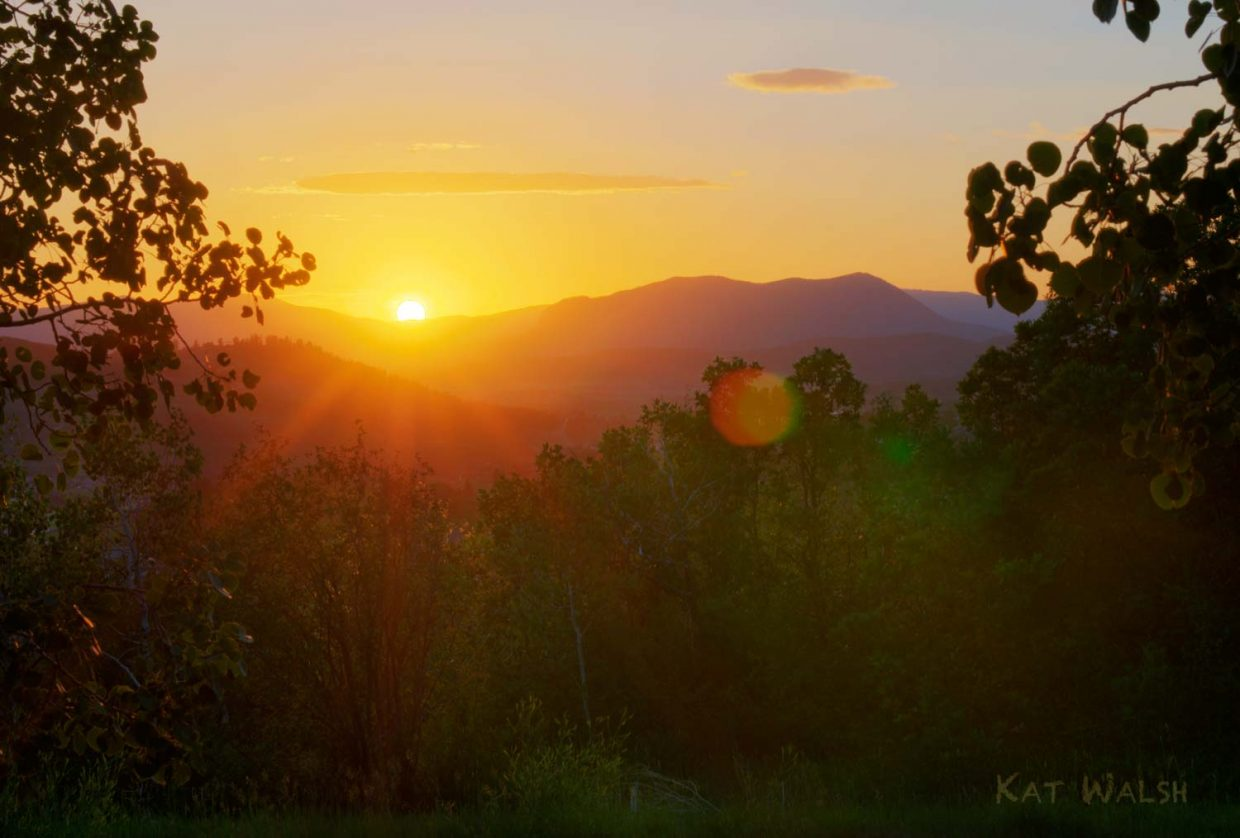 Sleeping Giant sunset. Submitted by: Kathleen Walsh
