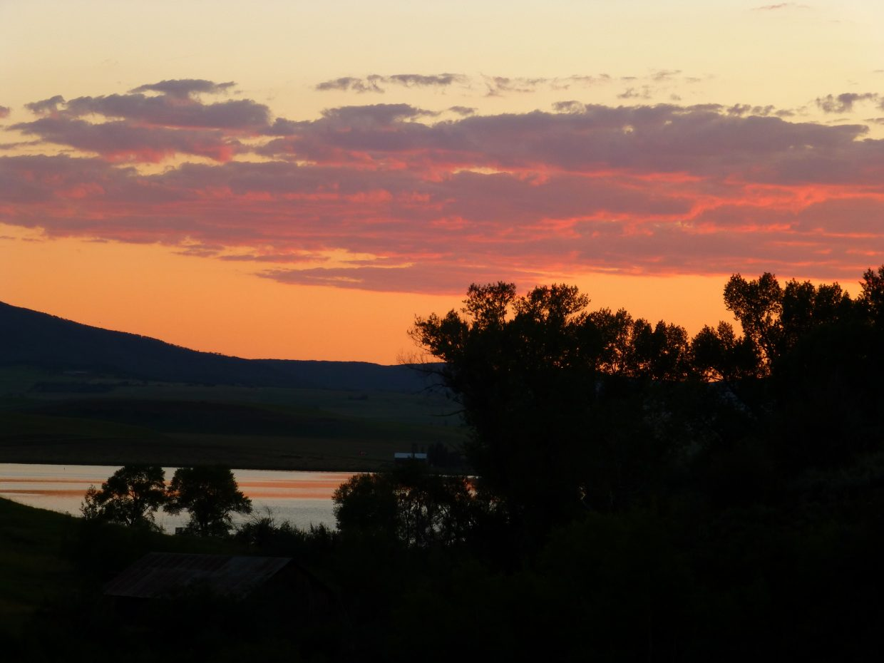 Sunset at Rehder Ranch. Submitted by: Gail Hanley