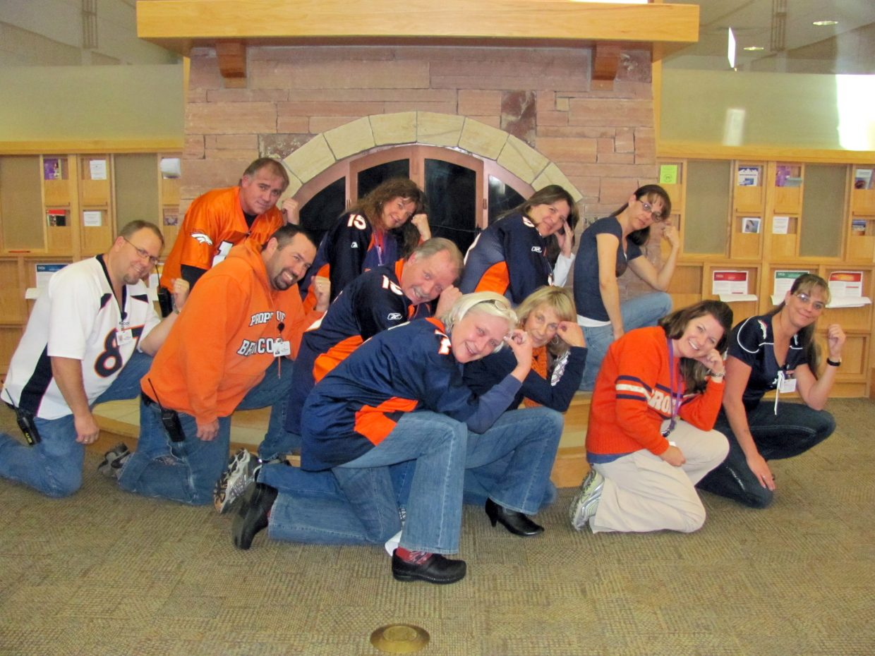 Tebow time at Yampa Valley Medical Center. 