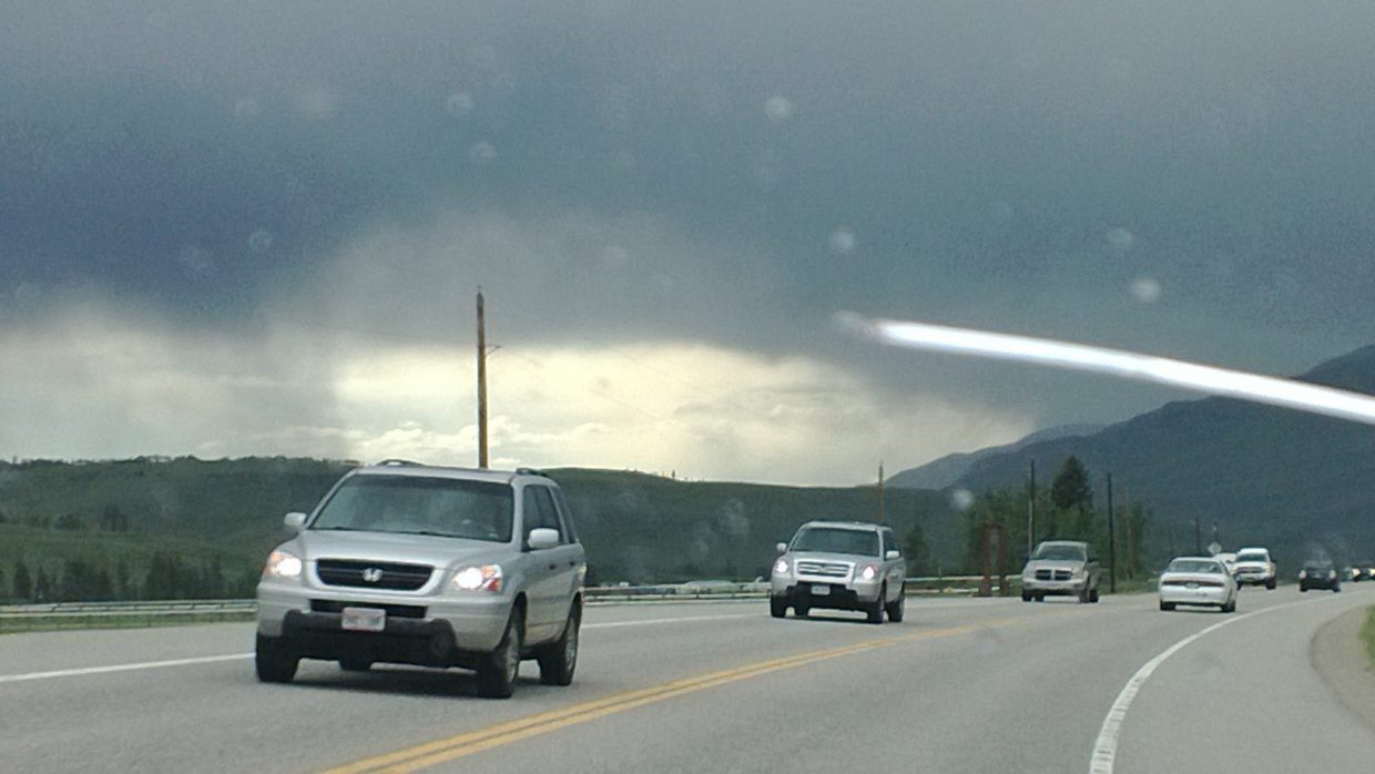 A dome of sunshine over Steamboat heading towards Kremling on Sunday. Submitted by: Kat Kelly