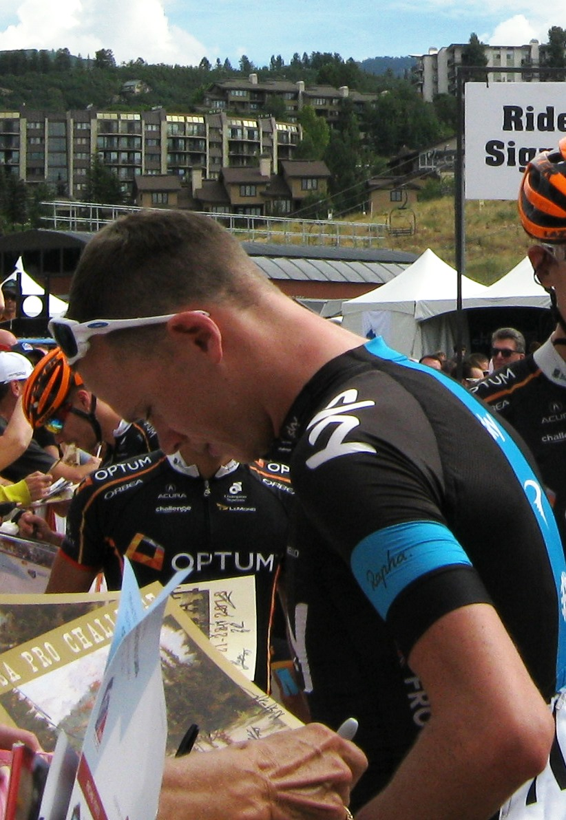 Chris Froome in Steamboat Springs during the USA Pro Challenge. Submitted by: Janie Johnson-Russell
