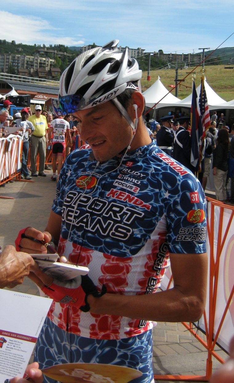Freddie Rodriguez in Steamboat Springs during the USA Pro Challenge. Submitted by: Janie Johnson-Russell