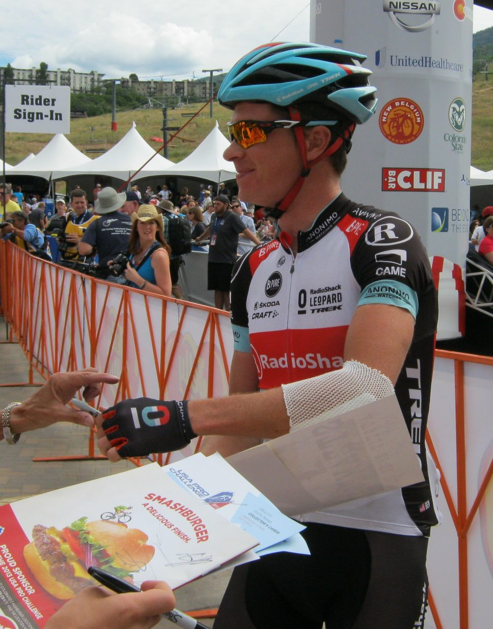 Jens Voigt in Steamboat Springs during the USA Pro Challenge. Submitted by: Janie Johnson-Russell