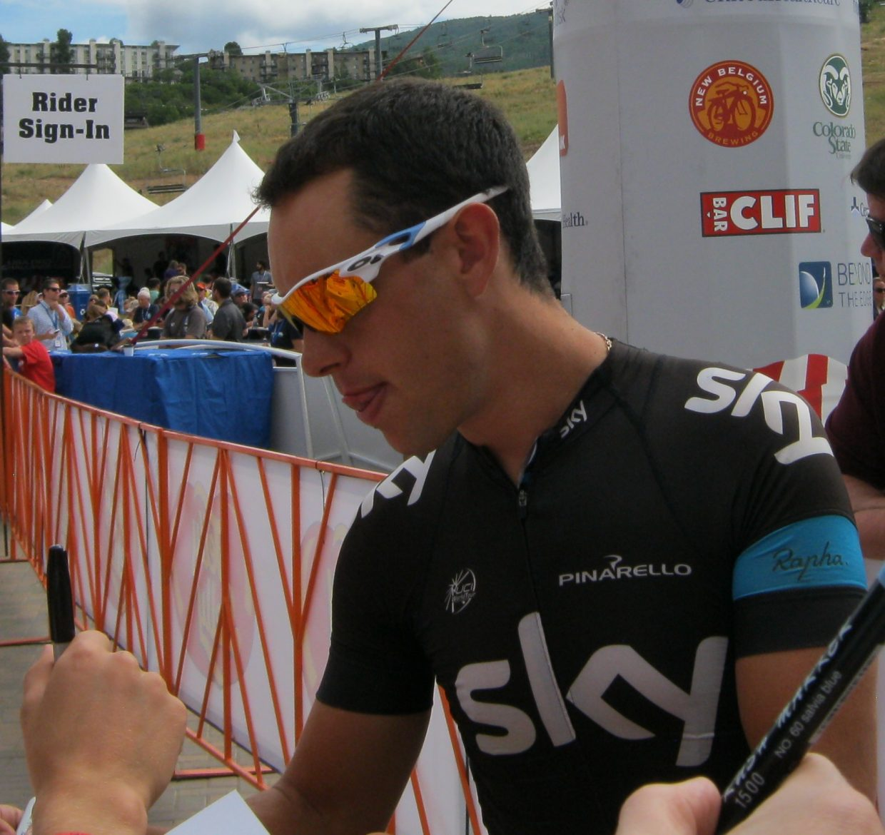 Richie Porte in Steamboat Springs during the USA Pro Challenge. Submitted by: Janie Johnson-Russell