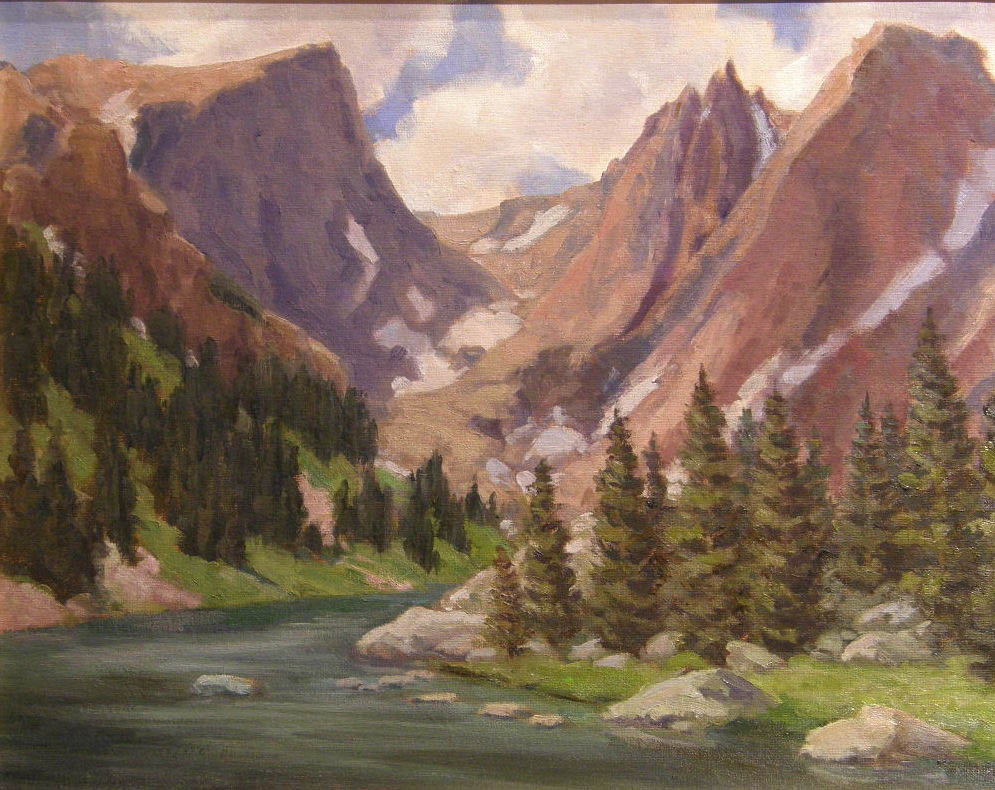 """""""Dream Lake"""" by Richard Galusha. The local painter's plein air landscapes are featured this month at Wild Horse Gallery."""