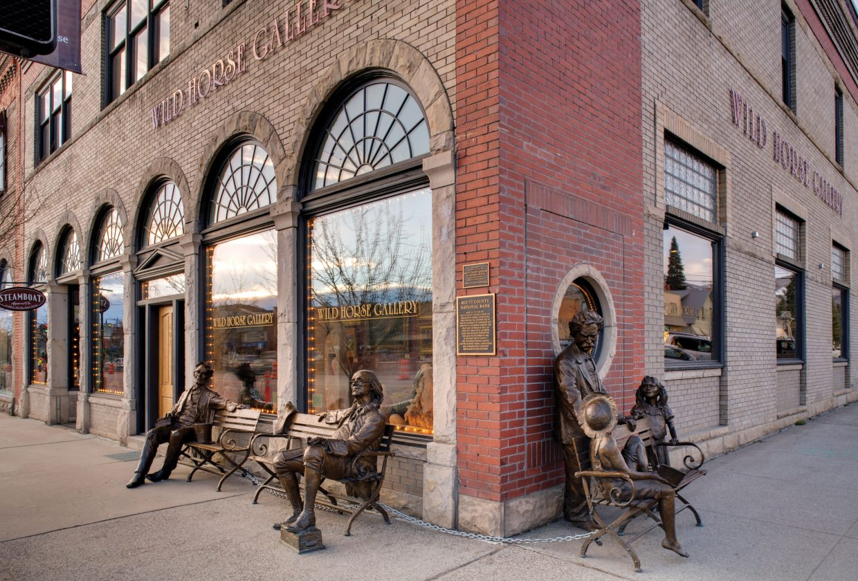 Wild Horse Gallery is at Eighth Street and Lincoln Avenue in downtown Steamboat Springs. The gallery currently is open by appointment but will shift to its regular business hours May 18.