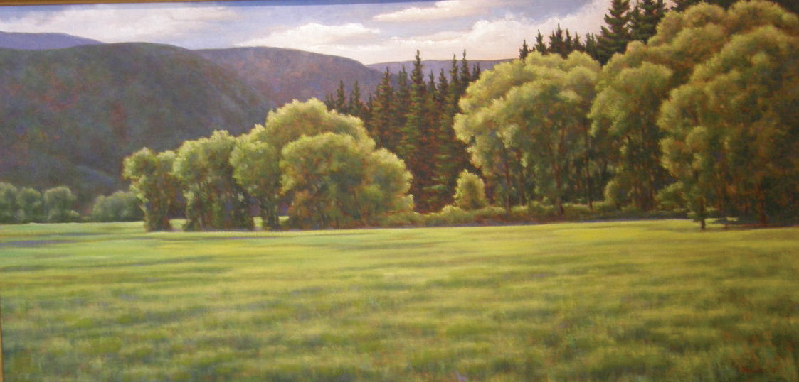 """""""Summer Morning"""" by Shirley Stocks; the artist's paintings are featured in September at Wild Horse Gallery. The gallery hosts a reception for featured artists from 5 to 8 p.m. today as part of First Friday Artwalk."""