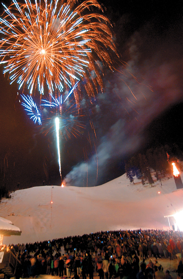 Fireworks ended Winter Carnival's Night Extravaganza on Feb. 10.
