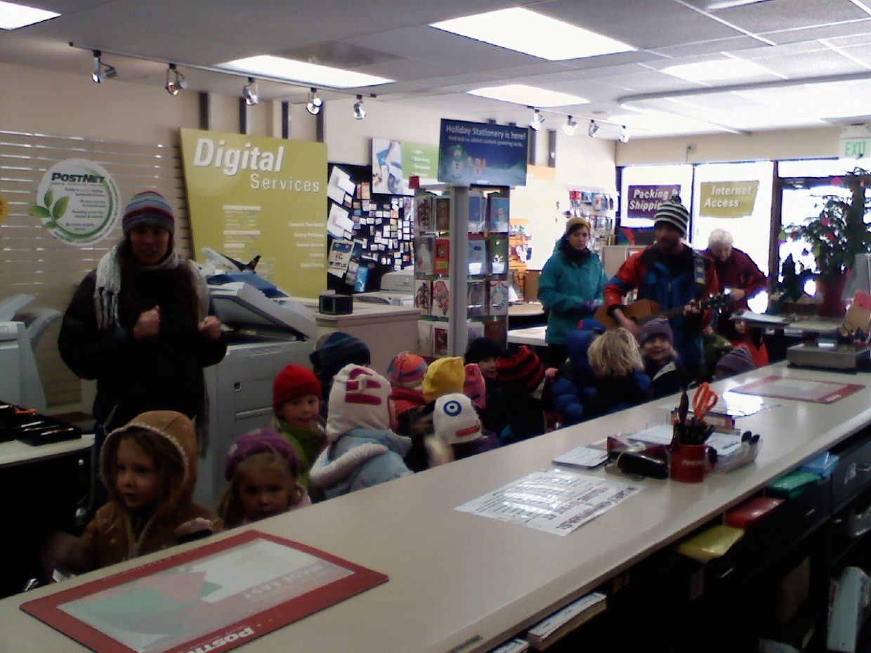 The Young Tracks children sing carols to the staff at PostNet. Submitted by: Candice May Martin