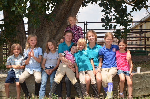 Members of Yampa Valley Pony Club and their families had a great time together at D Camp in Fort Collins this past weekend. From left, Danny McLaughlin, Caroline McLaughlin, Kenzie Radway, Scout Reynolds, Andie Koly, Kaelan Radway, Freja Tynelius, Sydney Boyd (camp counselor), Cosette McLaughlin and Hannah Koly. Not pictured is Carson Harvey. Submitted by: Lauren McLaughlin