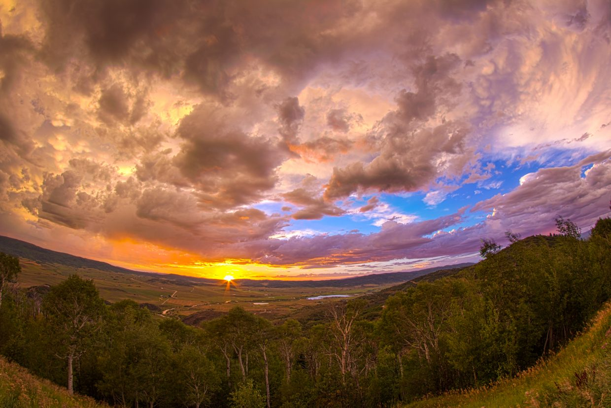 Sunset in the Yampa Valley. Submitted by: Michael Burns