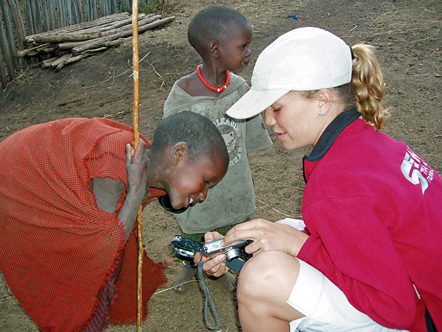 Mother and daughter pair Kendall and Natalie Geer went on a trip to Africa together in October.