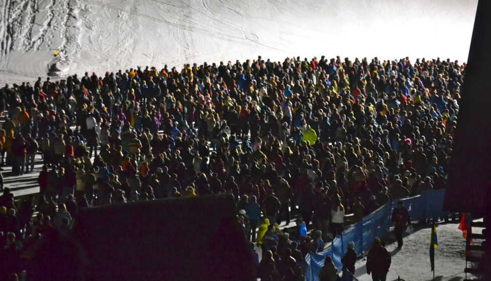 Spectators fill the area around the stage for the Night Extravaganza on Feb. 11. Submitted by: Amy Johnson
