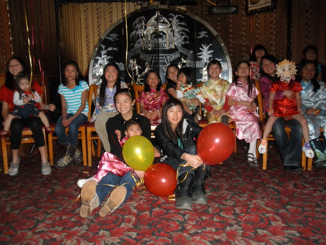 All the adopted Chinese children of Steamboat Springs celebrate the Chinese New Year last Sunday night. Submitted by: Sara Barry