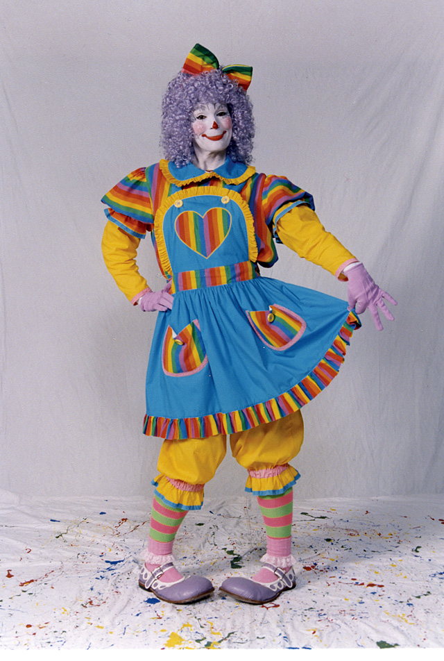 Susan Merrill's Watoosie the clown character, which is her most popular clown personality she uses.