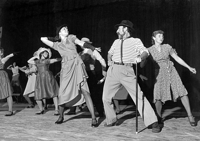Patti Coe, Ilene Stevenson, Beth Bagley, Joe Kboudi and Jean Labaree perform in the annual dance concert in 1983. The Steamboat Dance Theatre is celebrating its 35th anniversary this year.