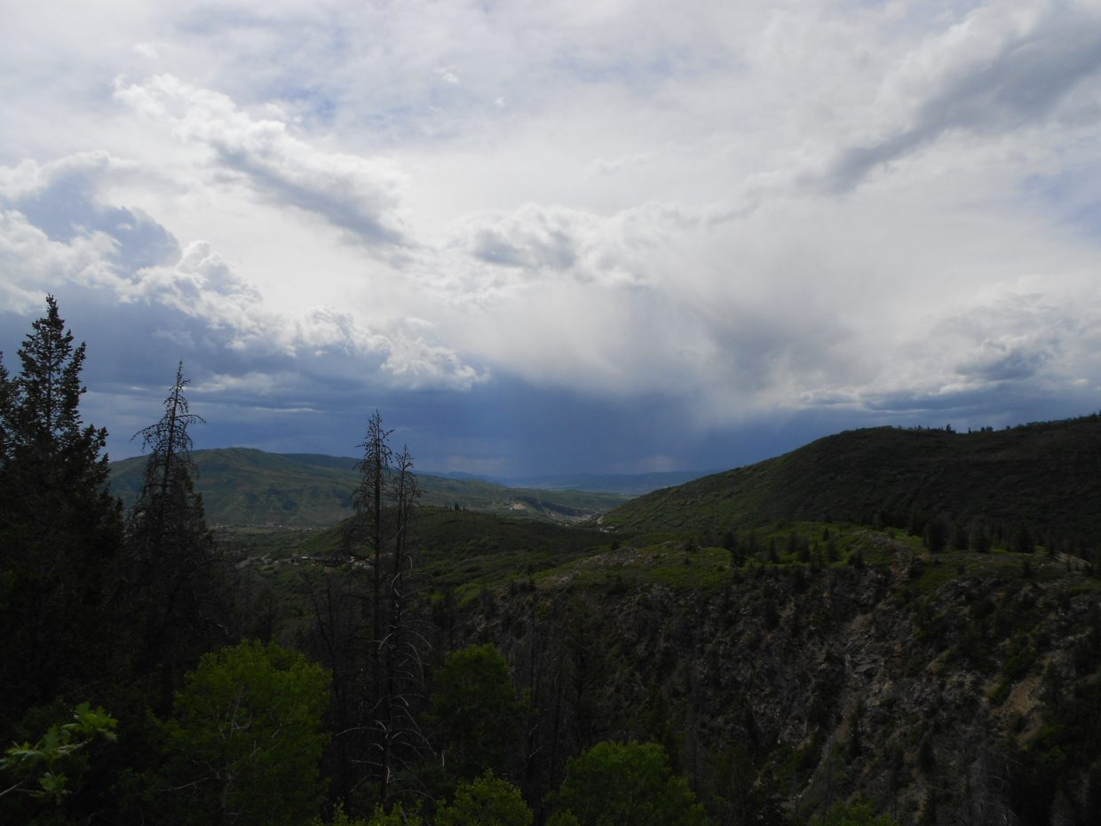 The view from the Sanctuary Trail to Fish Creek Falls on June 2. Submitted by: Maryedith Davies