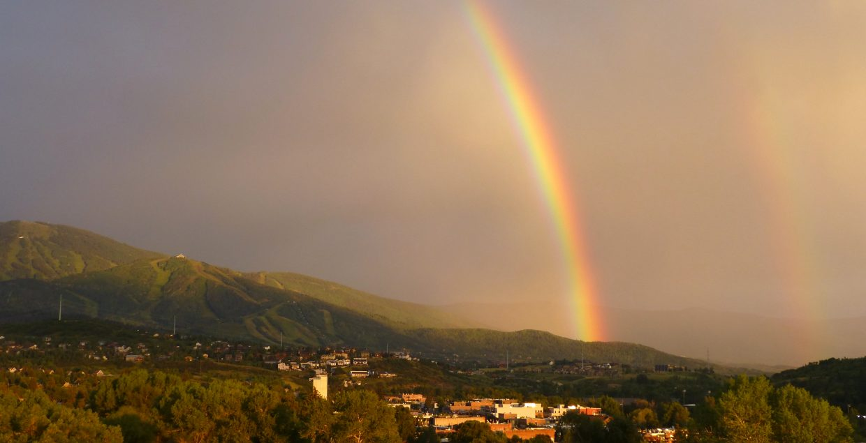 Double rainbow. Submitted by: Gail Hanley