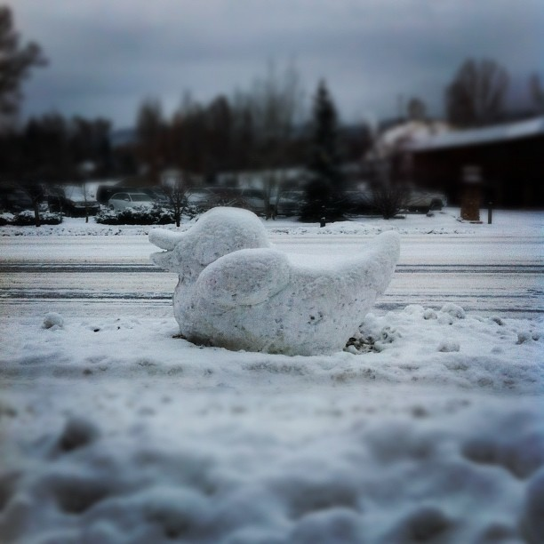A shot of a ducky sculpture outside of the Rabbit Ears Motel. Submitted by: Mike Folden