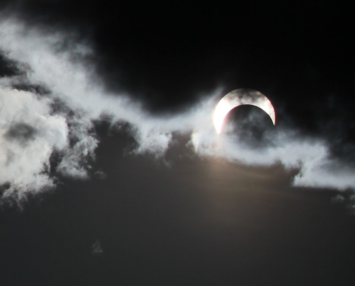 Solar eclipse from Moon Hill. Submitted by: Diane Miller