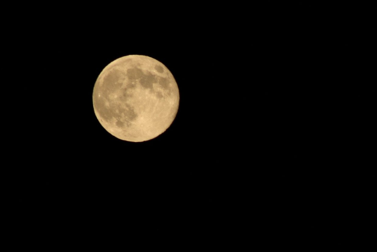 The full moon Monday night. Submitted by: Ian Case