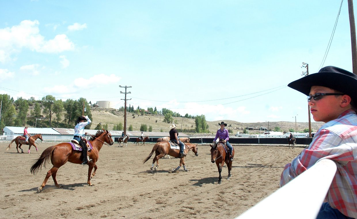 About 50 riders participated in the open Western horse show Saturday at the Routt County Fair.