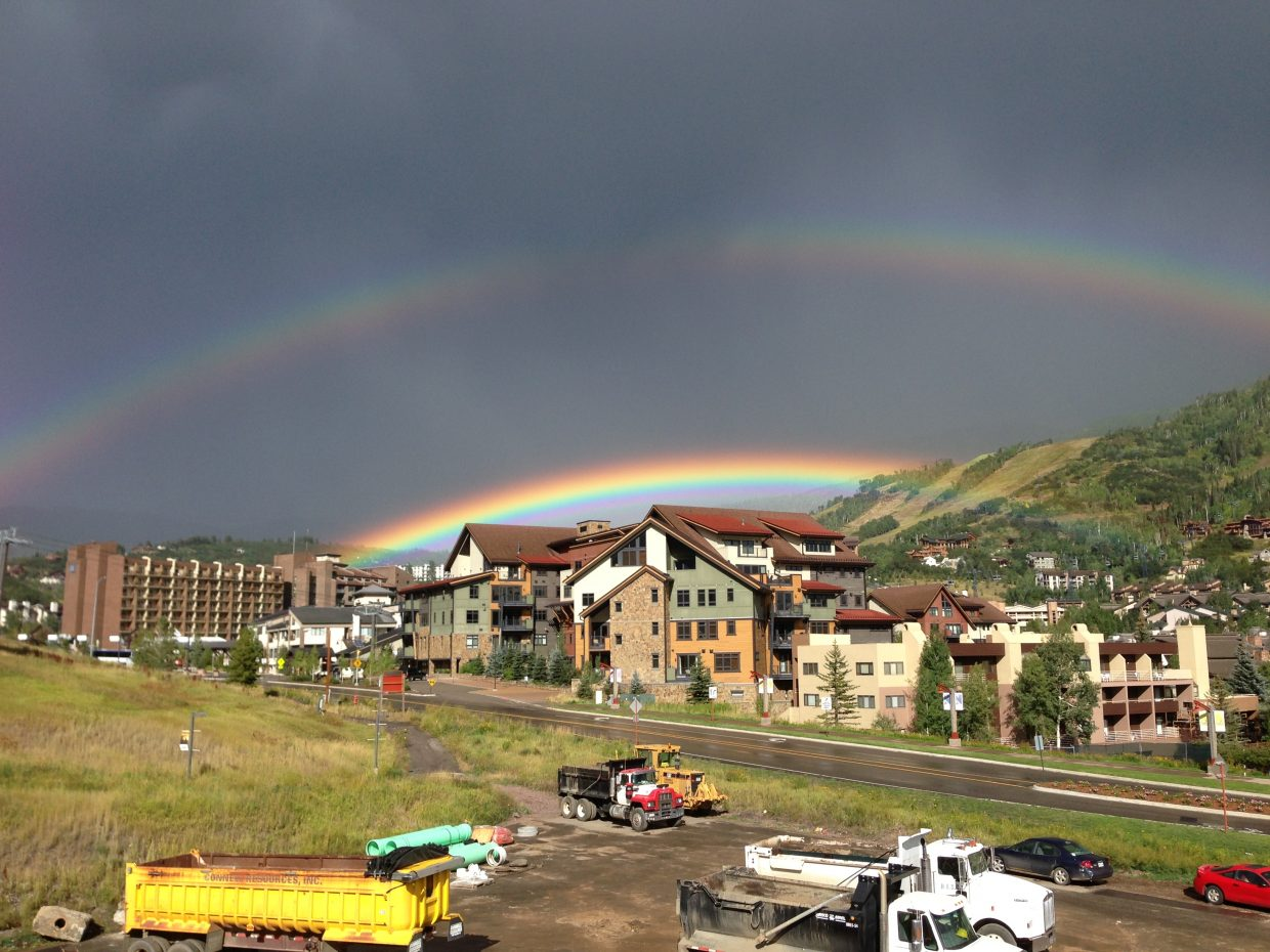 Taken from parking lot near Steamboat Grand. Submitted by: Ferris Fain