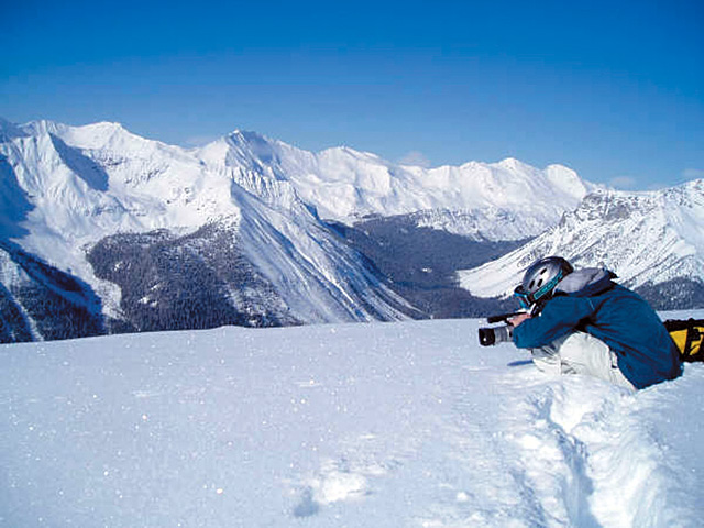 """Michael Martin films in Kicking Horse, British Columbia for his film, """"A Place Without a Postcard."""""""