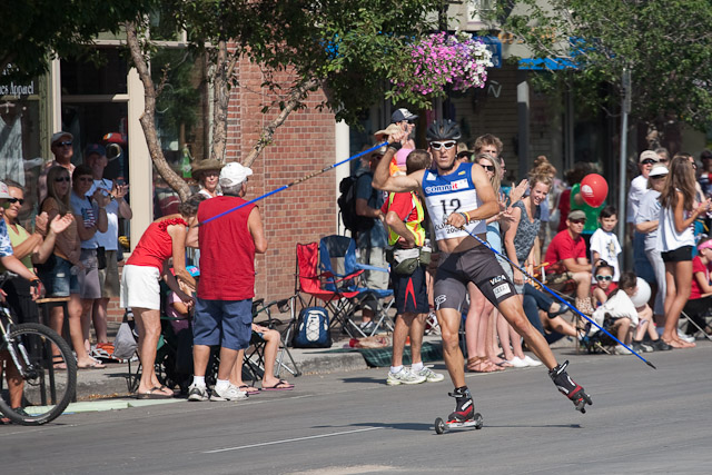 Todd Lodwick pulls up near the finish line. Submitted by: George Fargo