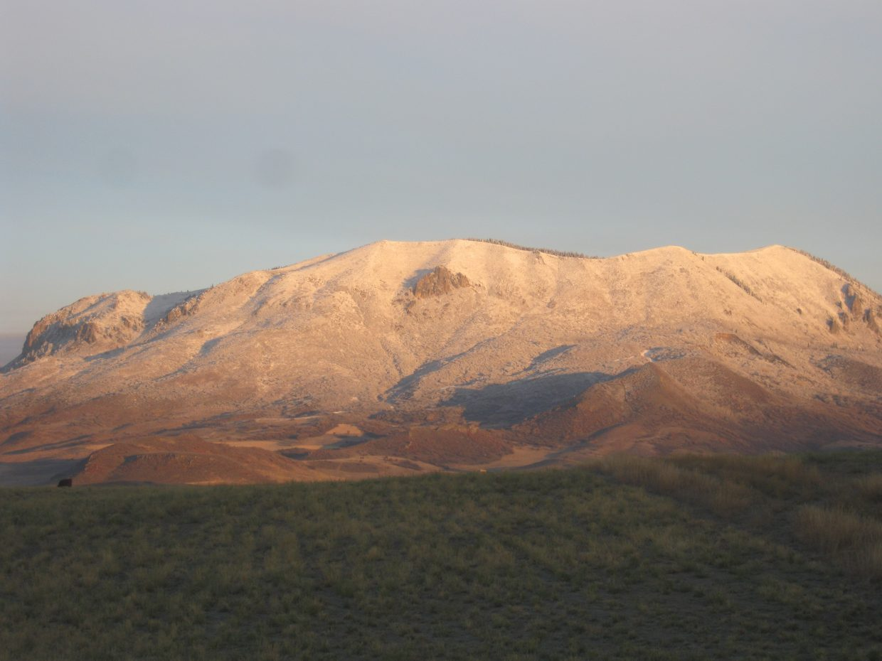 Sleeping Giant with an early-season snowfall. Submitted by: Doug Garber
