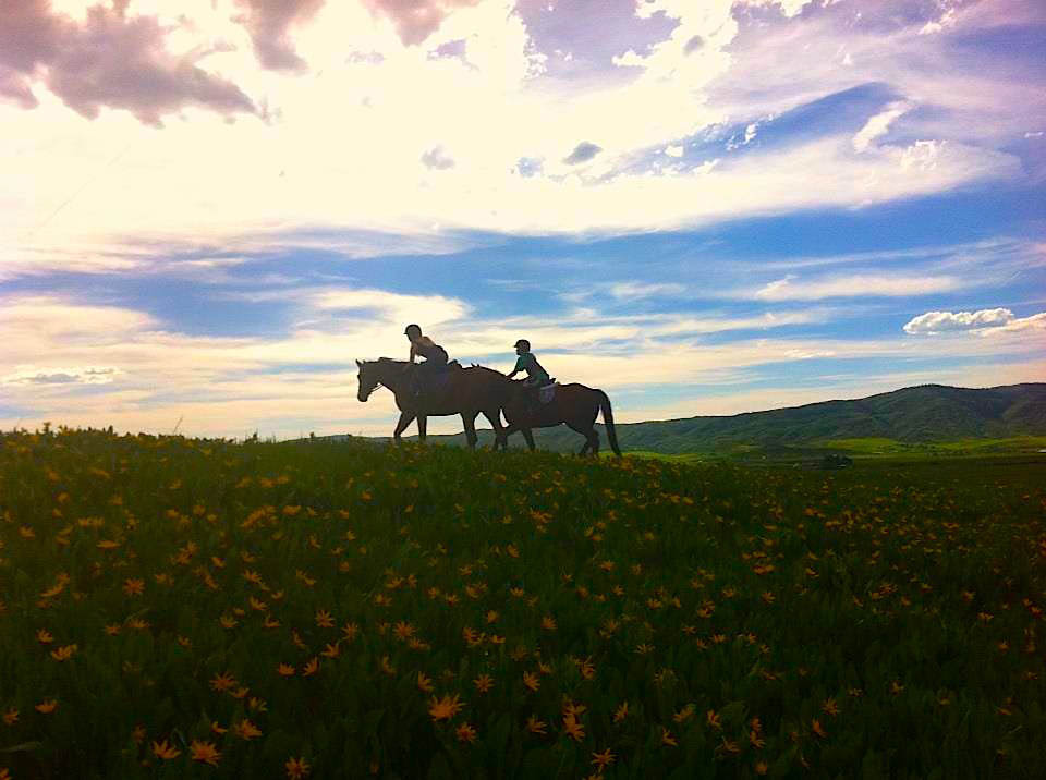 Estelle and Morgan on their horses for a first summer ride. Submitted by: Erika Janin