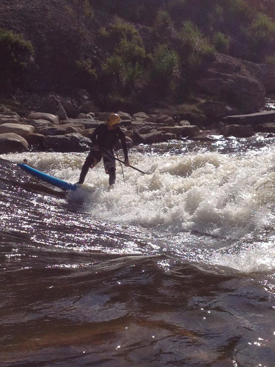 Stand-up paddleboarding on the Yampa. Submitted by: Michelle Barnes