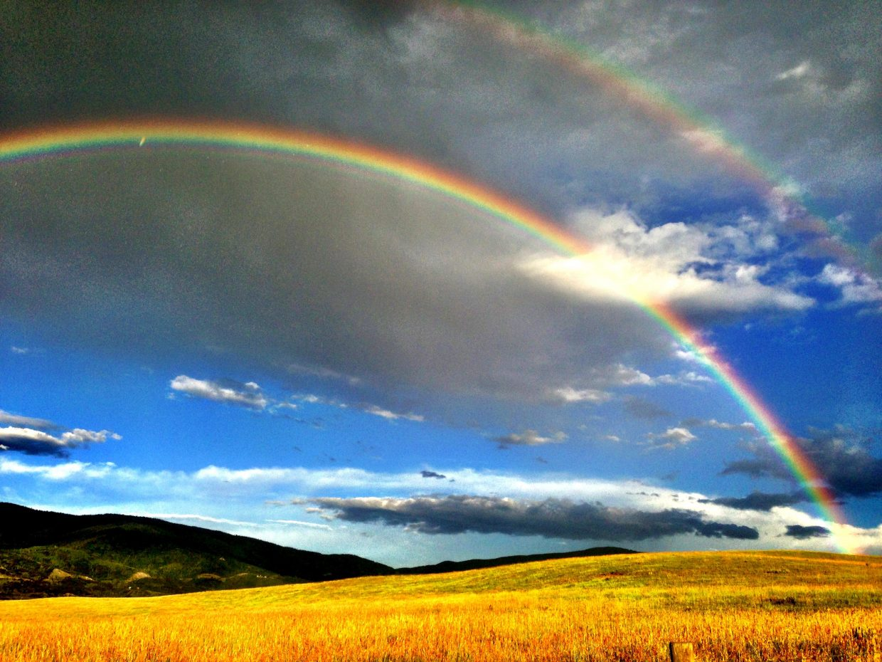 Rainbow at Sidney Peak Ranch. Submitted by: Mitchell Melander