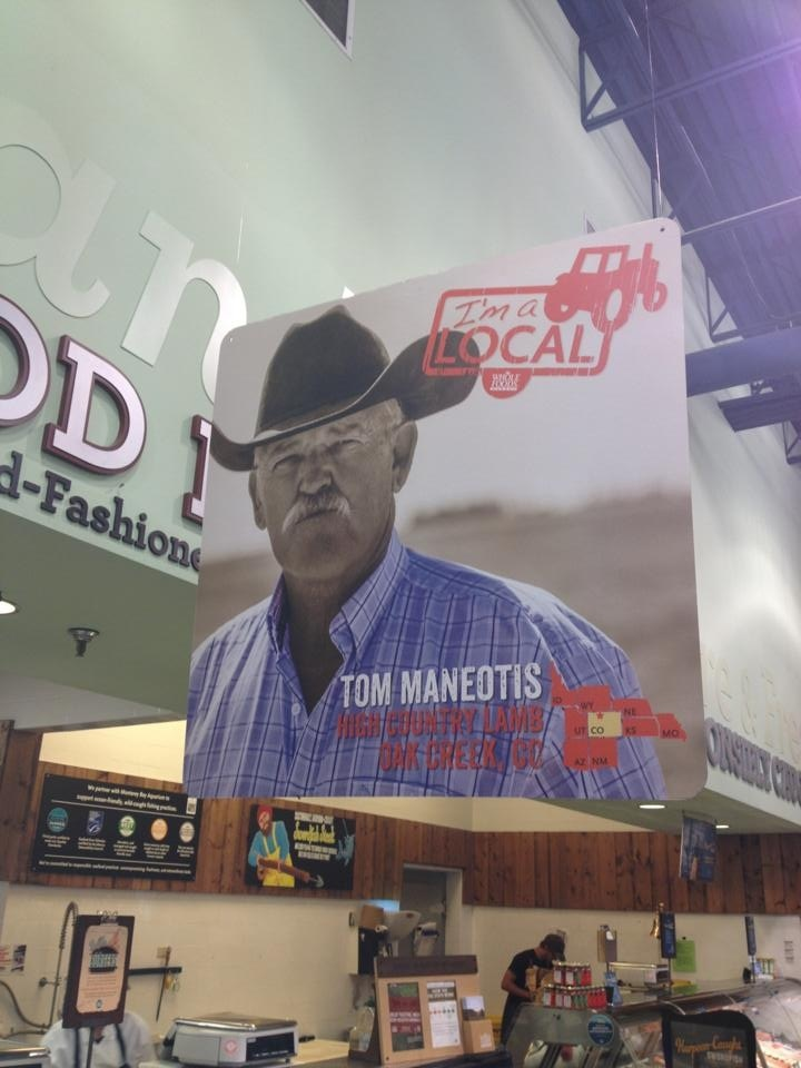 Tom Maneotis seen at Whole Foods at Colorado Mills. Great to see locals and their lamb promoted! Submitted by: Brita Horn