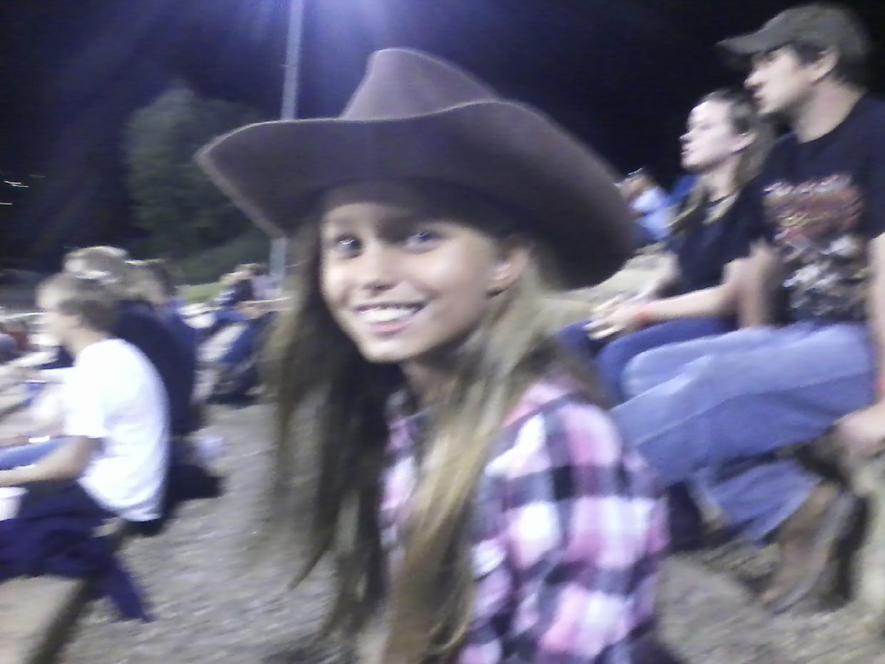 Gracie Rogers from Chandler, Ariz., enjoys the rodeo with family. Submitted by: Holly Estes