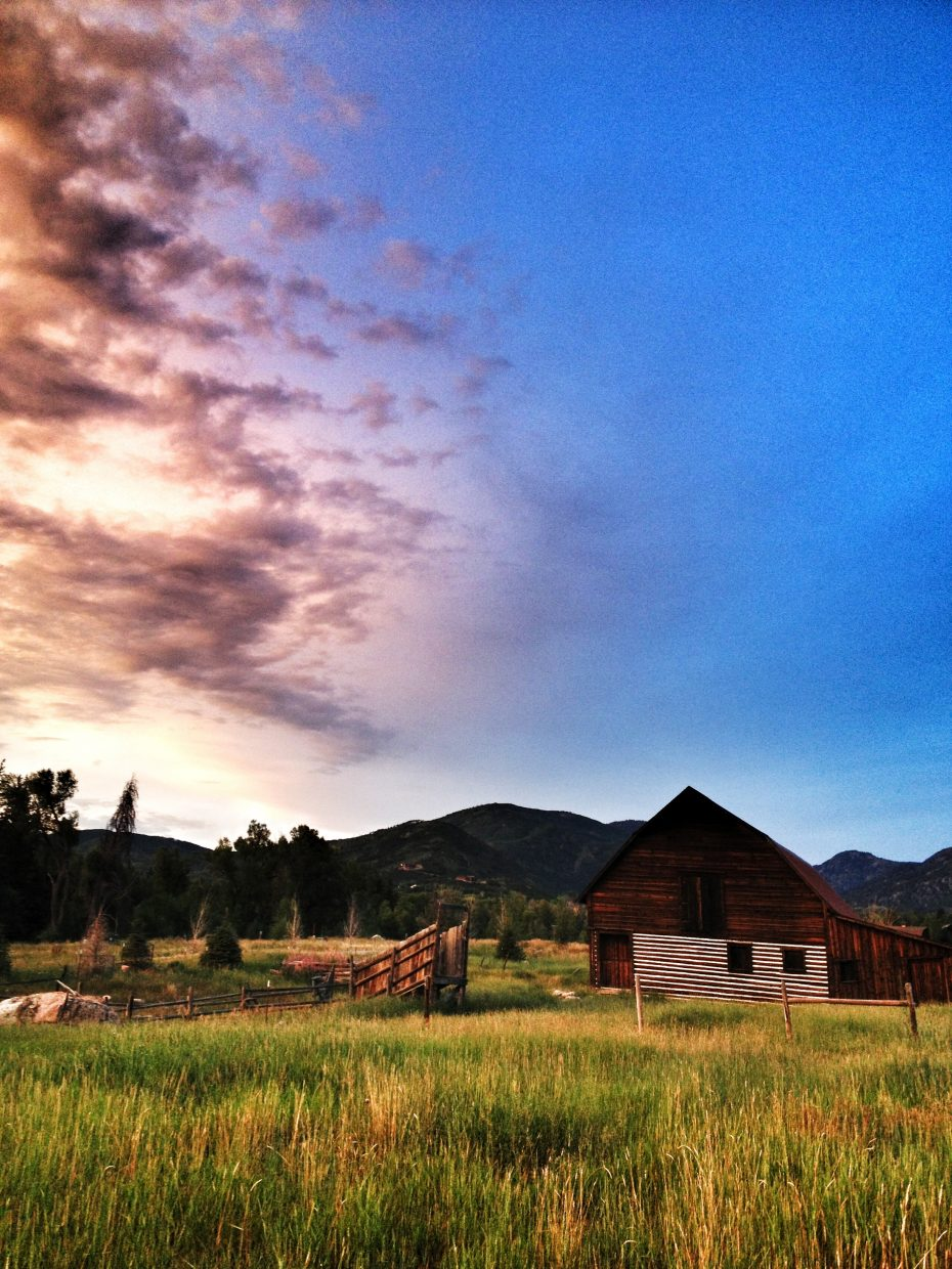 Colorado skies settle on Steamboat's barn. Submitted by: Greg Sagan