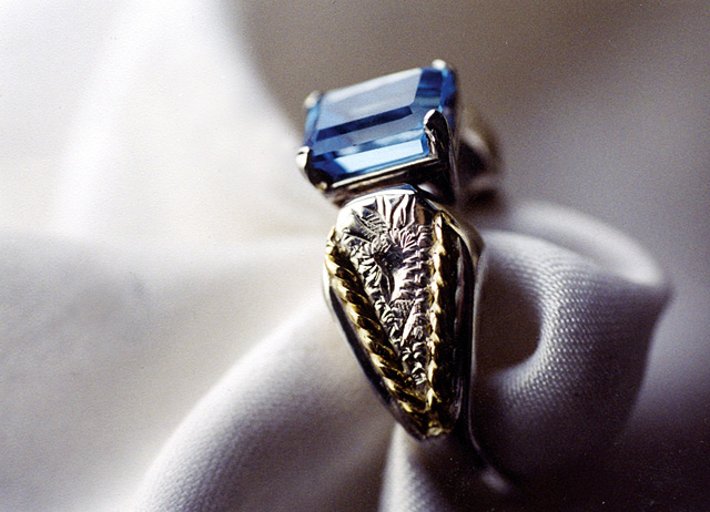The saddle ring is one of Sarah Buckles Larner's favorite designs she's created.