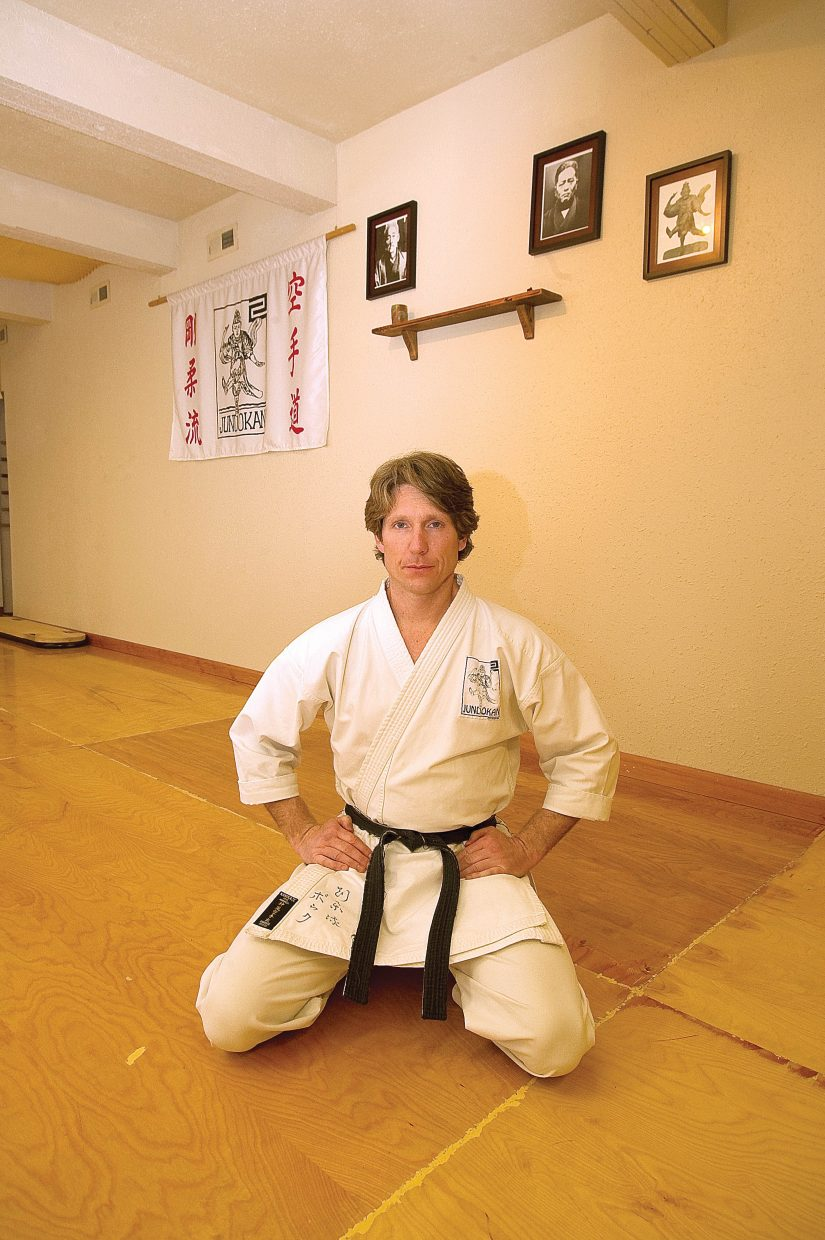 Michael David Bauk opened the Steamboat Karate Academy 10 years ago on April 3, 2000.