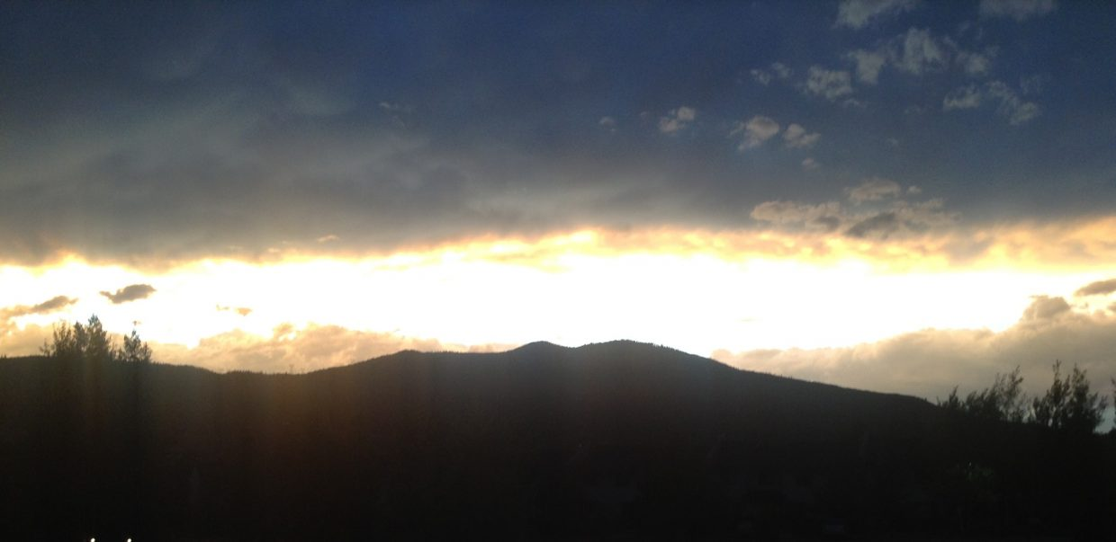 Emerald Mountain sunset. Submitted by: Stephanie Keeler