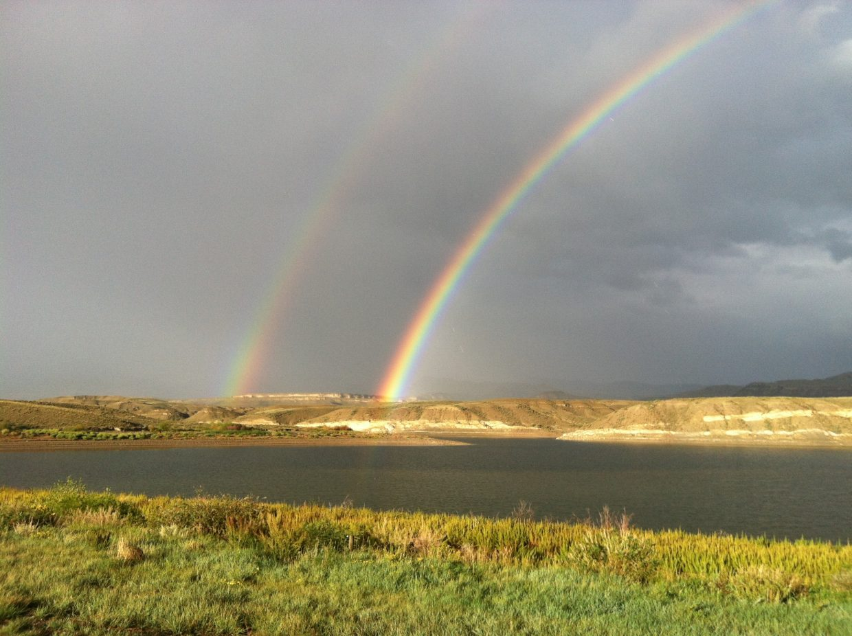 Double rainbow near Wolford Reservoir between Kremmling and Steamboat. Submitted by: Linda Laughlin