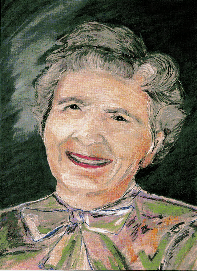 """Suzy Holloran's pastel depiction of Natalie Stanko. The Tread of Pioneers Museum is hosting an art opening and reception for Holloran's artwork in the book she published with writer Marles Humphrey, """"Lilies of our Valley."""""""