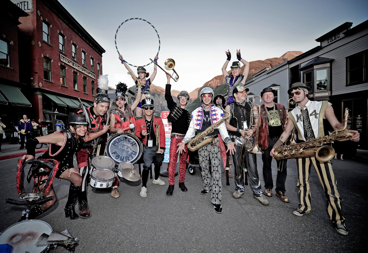 MarchFourth Marching Band is a festive visual and musical experience of circus arts and a powerful neo-marching band funk sound. The internationally acclaimed group will be in Steamboat Springs for the Bud Light Rocks the Boat free concert series on Feb. 6.